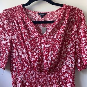 Reitmans Red Short Sleeve Dress NWT